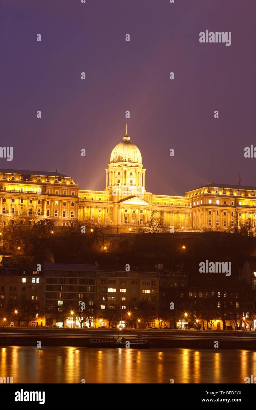 Castle district Buda with Buda castle, Budavári palota, Unesco World Heritage Site, Budapest, Hungary Stock Photo