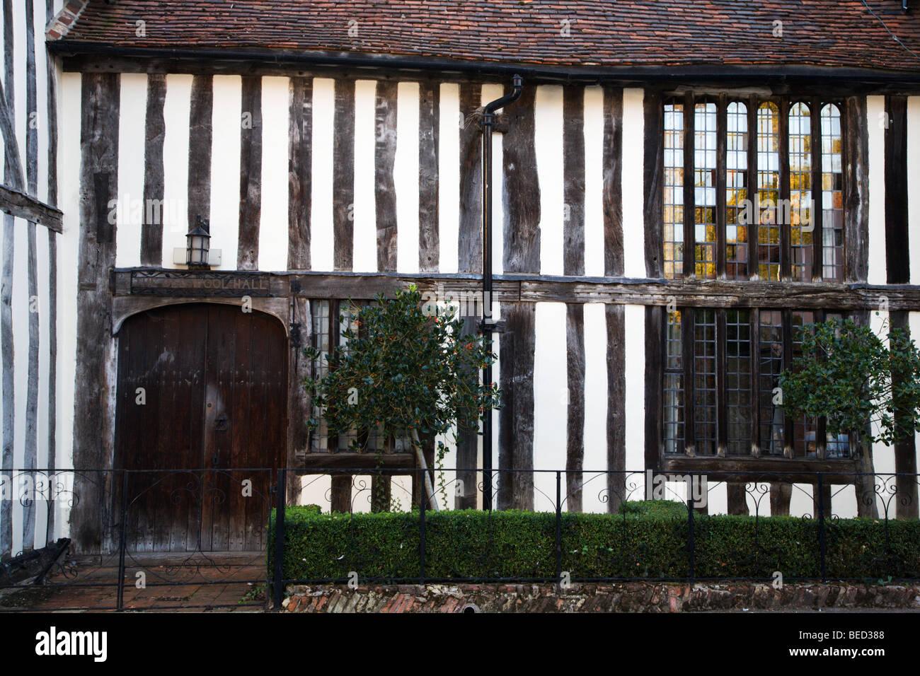The Old Wool Hall Lavenham Suffolk England - Stock Image