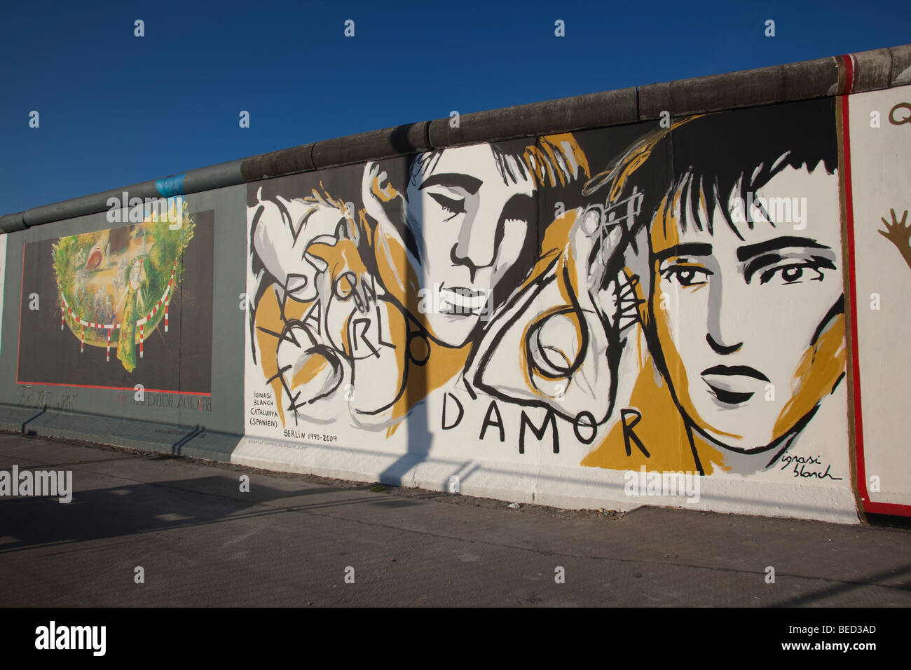 Berlin Germany East Side Gallery Remnant Of Old Berlin Wall Stock Photo Alamy