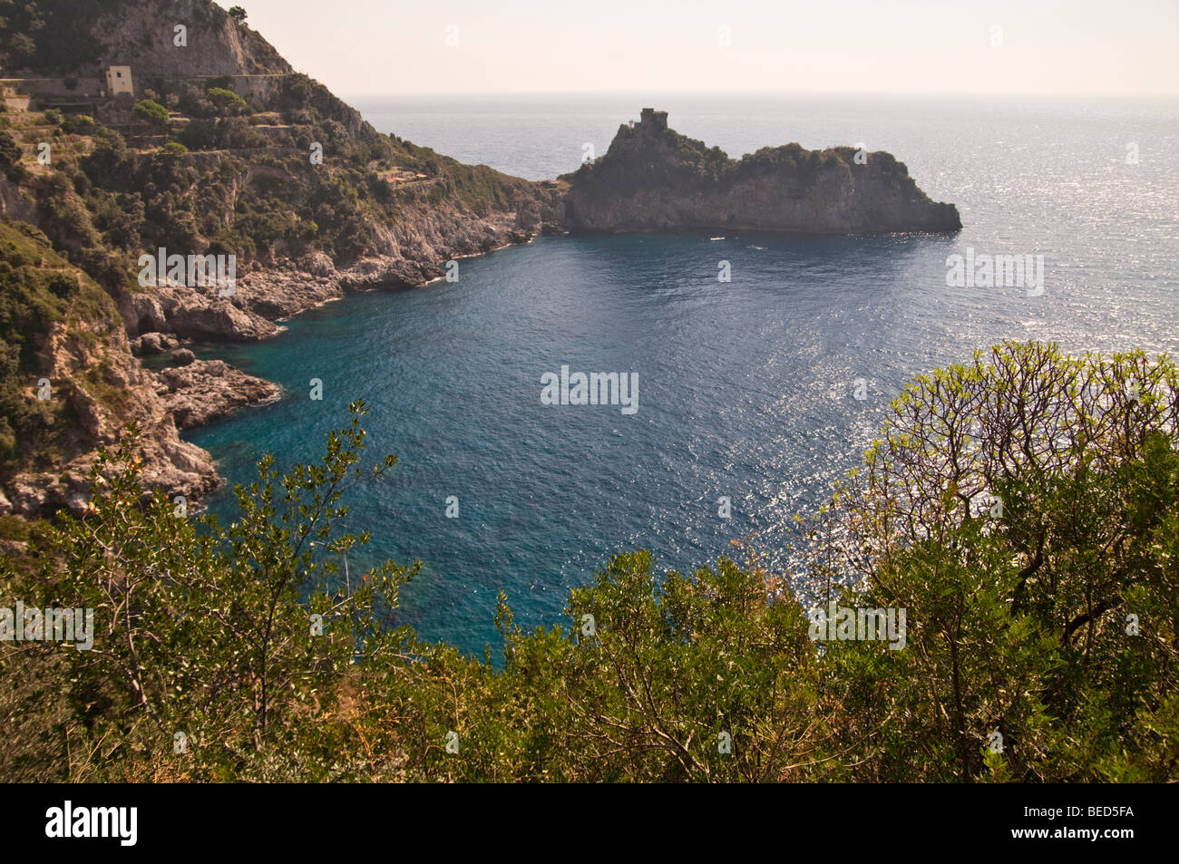 Bay near to  Conca Dei Marini , Italy - Stock Image
