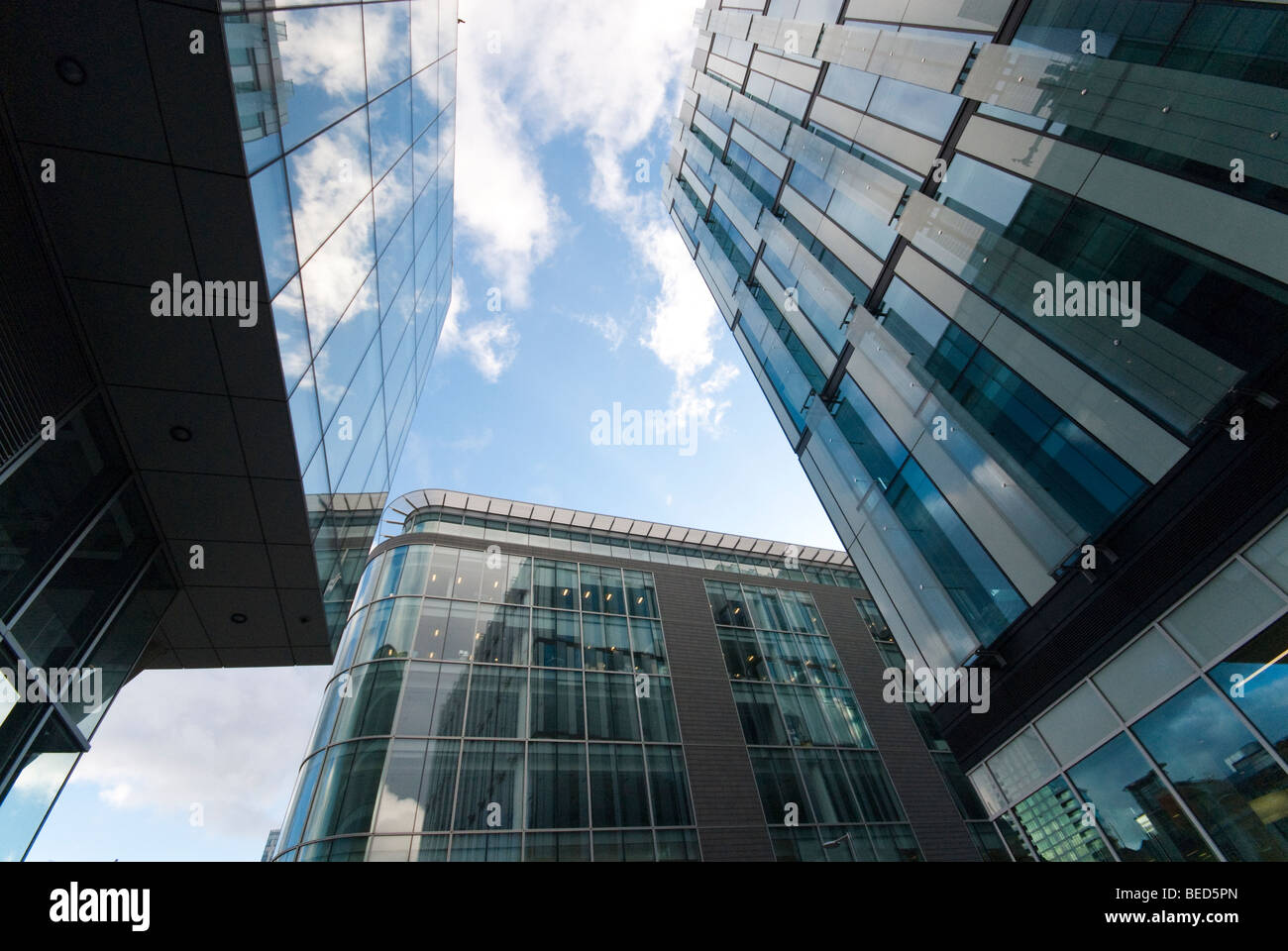 The finance district at the heart of Manchester City Centre - Stock Image
