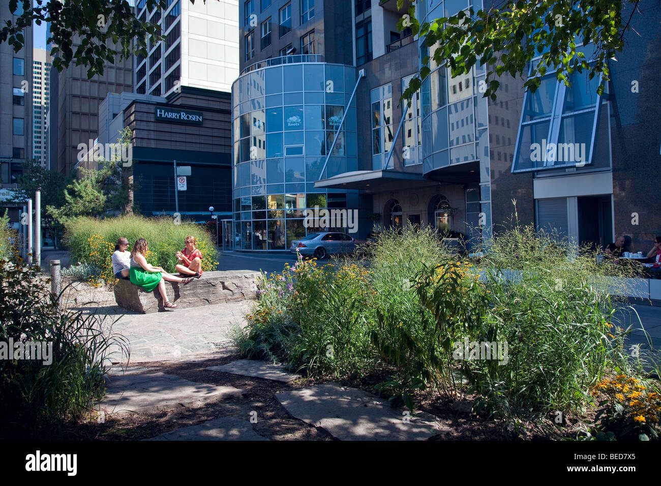 Yorkville,upscale shopping district,Toronto, Ontario, Canada, North America Stock Photo