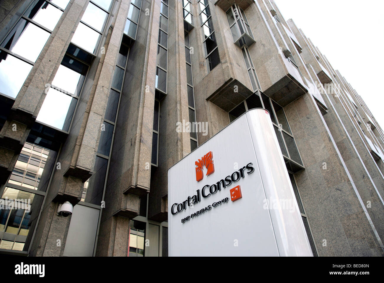Cortal Consors direct bank, part of the BNP Paribas Group bank, Luxembourg, Europe - Stock Image