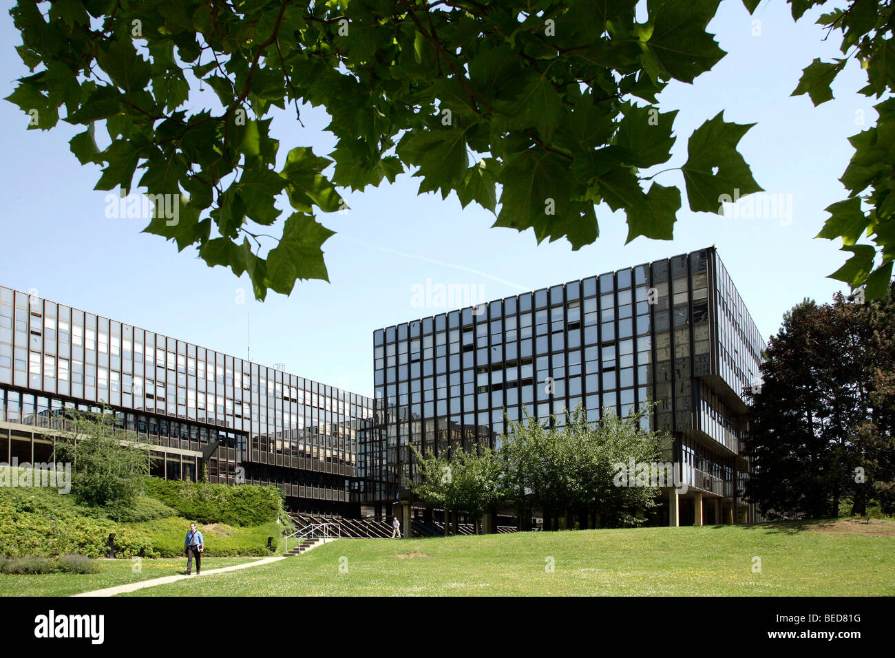 European Commission, Jean Monnet building, in Luxembourg, Europe - Stock Image