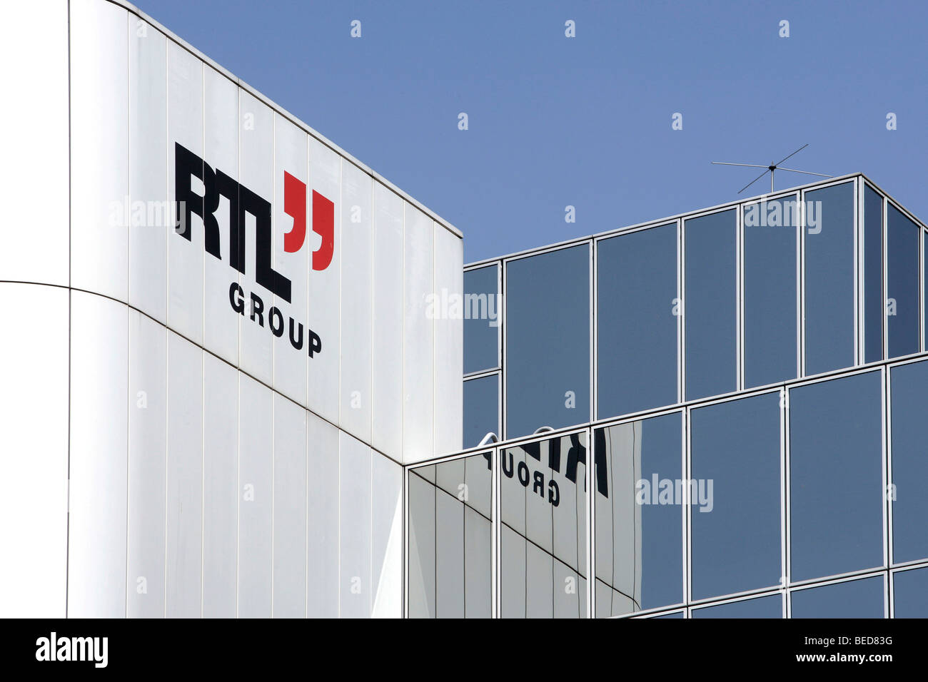 Headquarters and broadcasting centre of the RTL Group, Radio Television Luxembourg, in Luxembourg, Europe - Stock Image