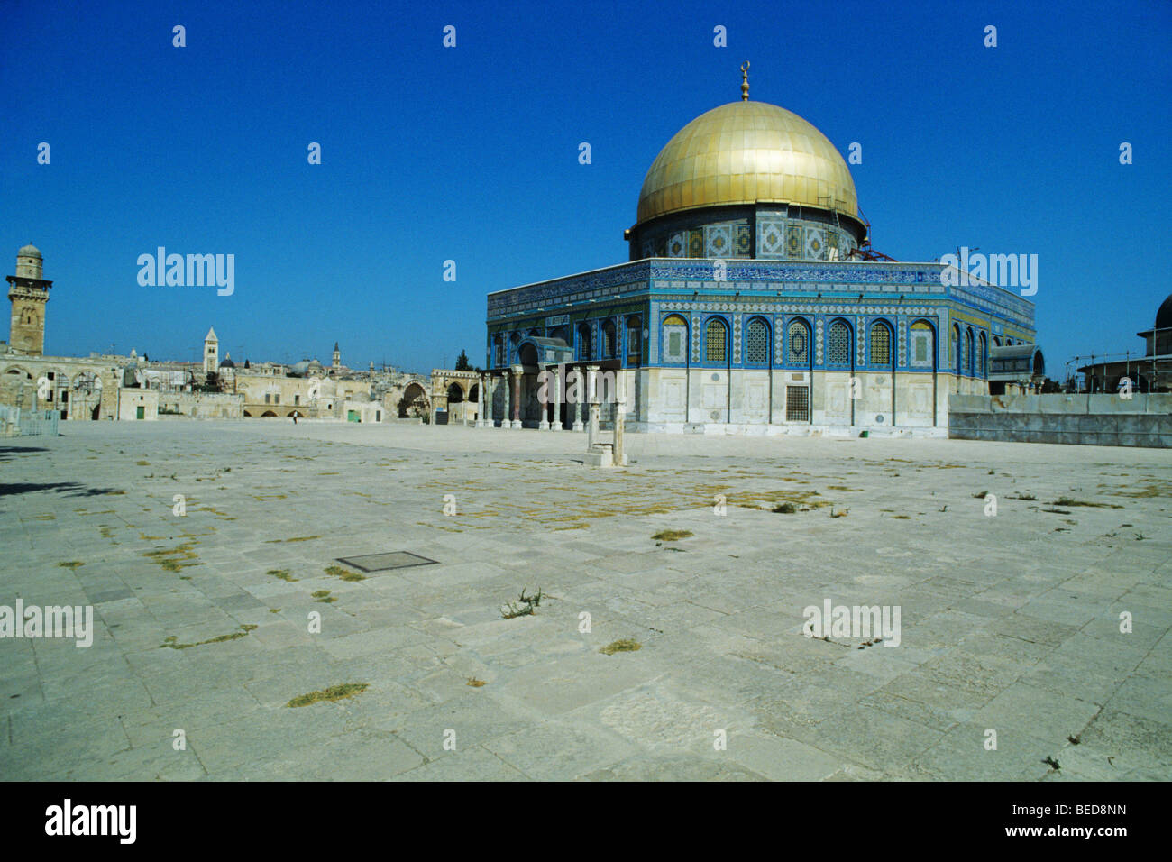 Dome of the Rock, Qubbet es-Sakhra, on the Temple Mount, Jerusalem, Israel, Near East, Orient - Stock Image