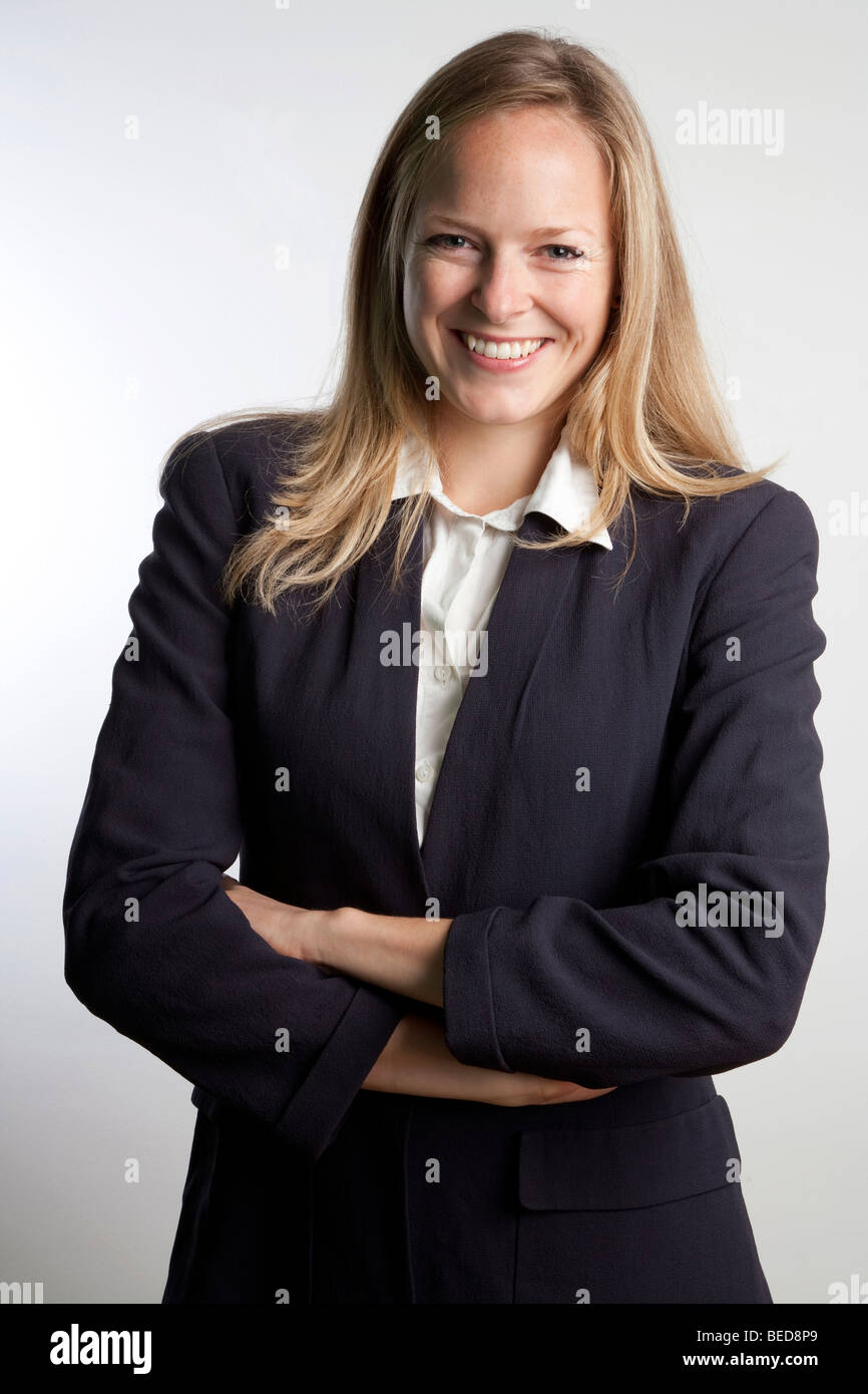 happy business woman - Stock Image