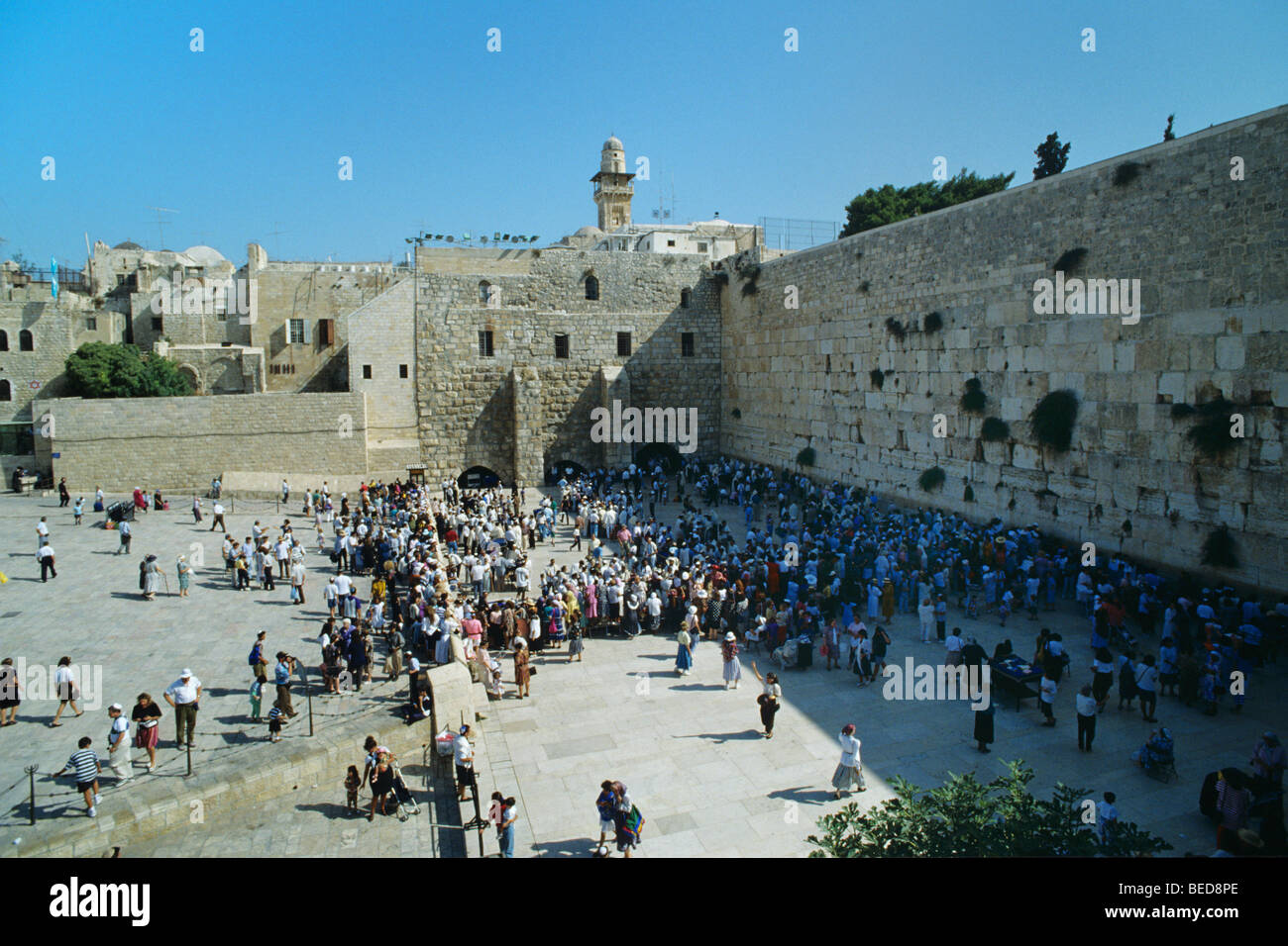 Jewish people praying at the Wailing Wall, Jerusalem, Israel, Near East, Orient - Stock Image