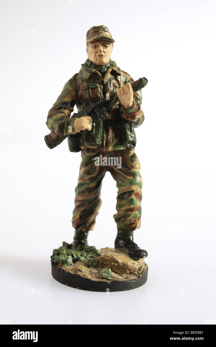 An infantry Private from the British Army of the Rhine 1970's. A collectible Franklin Mint soldier - Stock Image