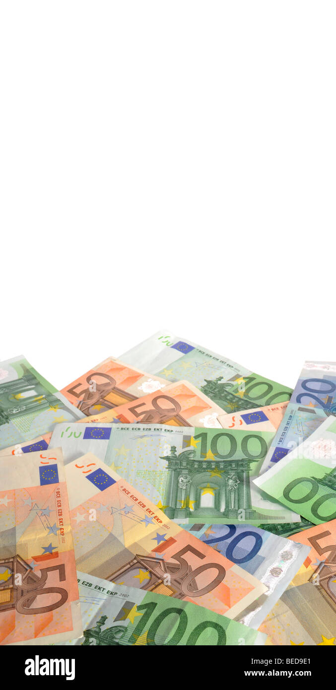 Banknotes, euro - Stock Image