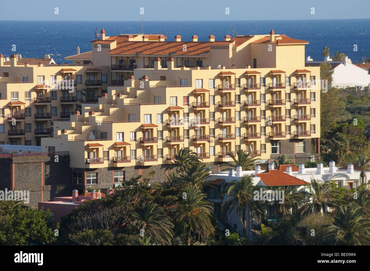 Holiday complex, Los Cancajos, La Palma, Canary Islands, Spain - Stock Image