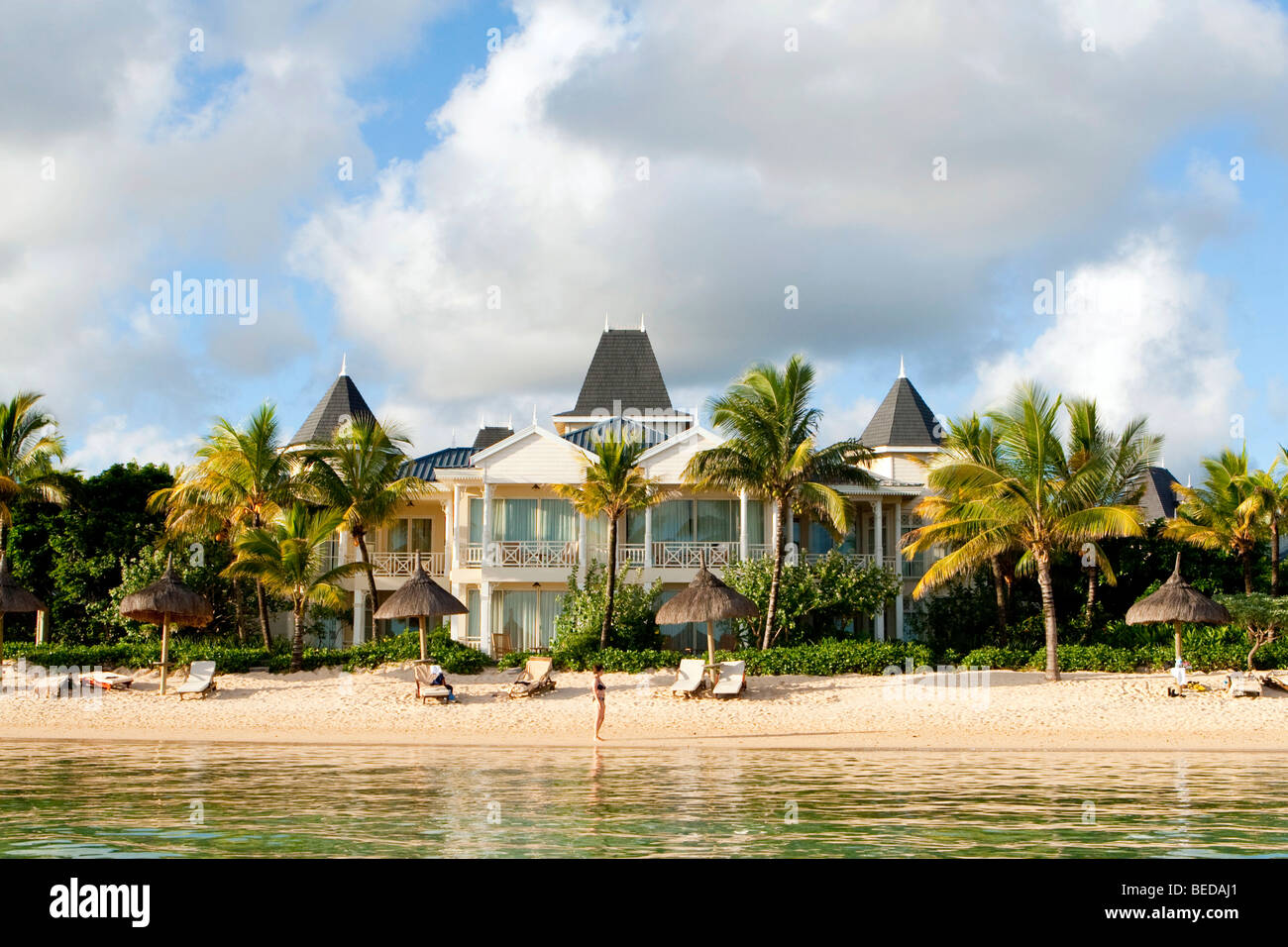 Hotel Le Telfair, Bel Ombre, Mauritius - Stock Image