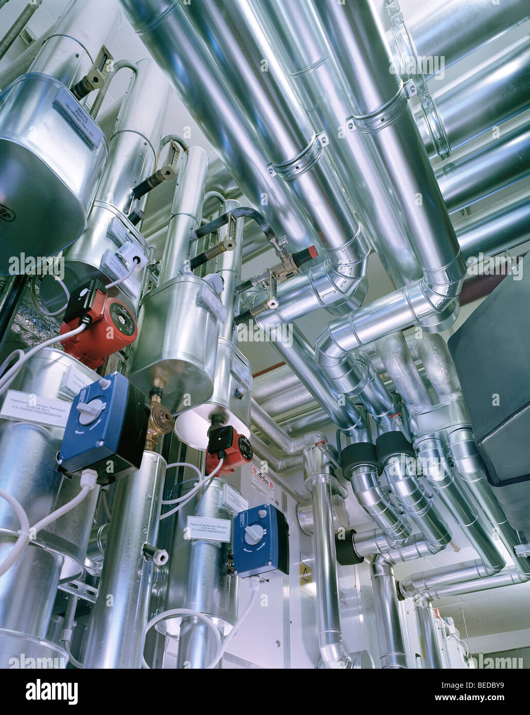 Heating technology and ventilation engineering - Stock Image