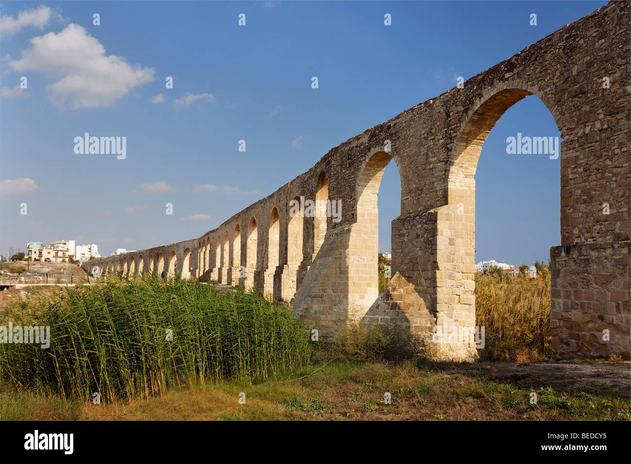 Osmanian aqueduct, built 1745, supplied Larnaca with water till 1939, Cyprus, Asia Stock Photo