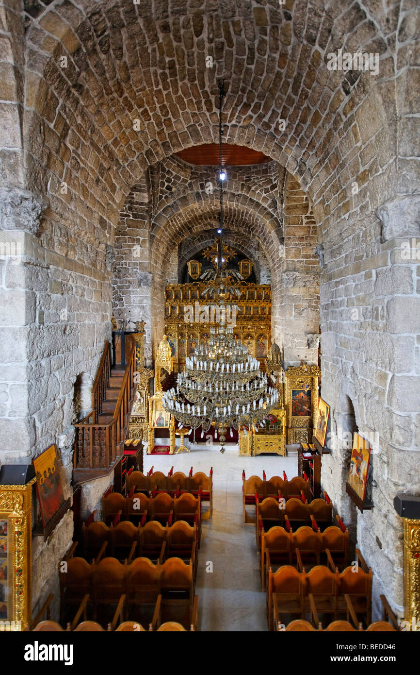 Interior of the Lazarus Church, altar, chairs, Larnaca, Cyprus, Asia - Stock Image