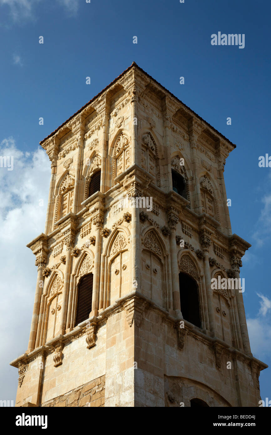 Church tower of the Lazarus Church, Larnaca, Cyprus, Asia - Stock Image