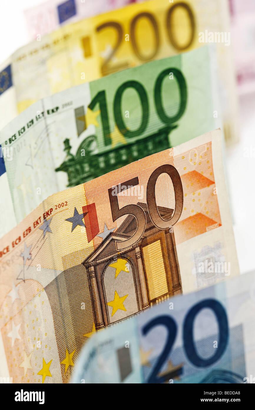 Euro banknotes - Stock Image