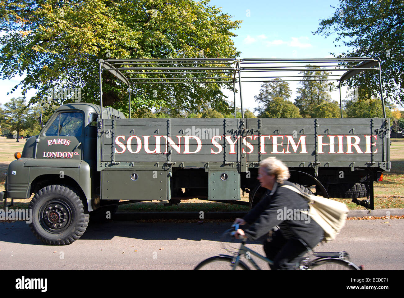 Truck Sound System >> Open Top Military Style Truck With Sound System Hire Stencilled On