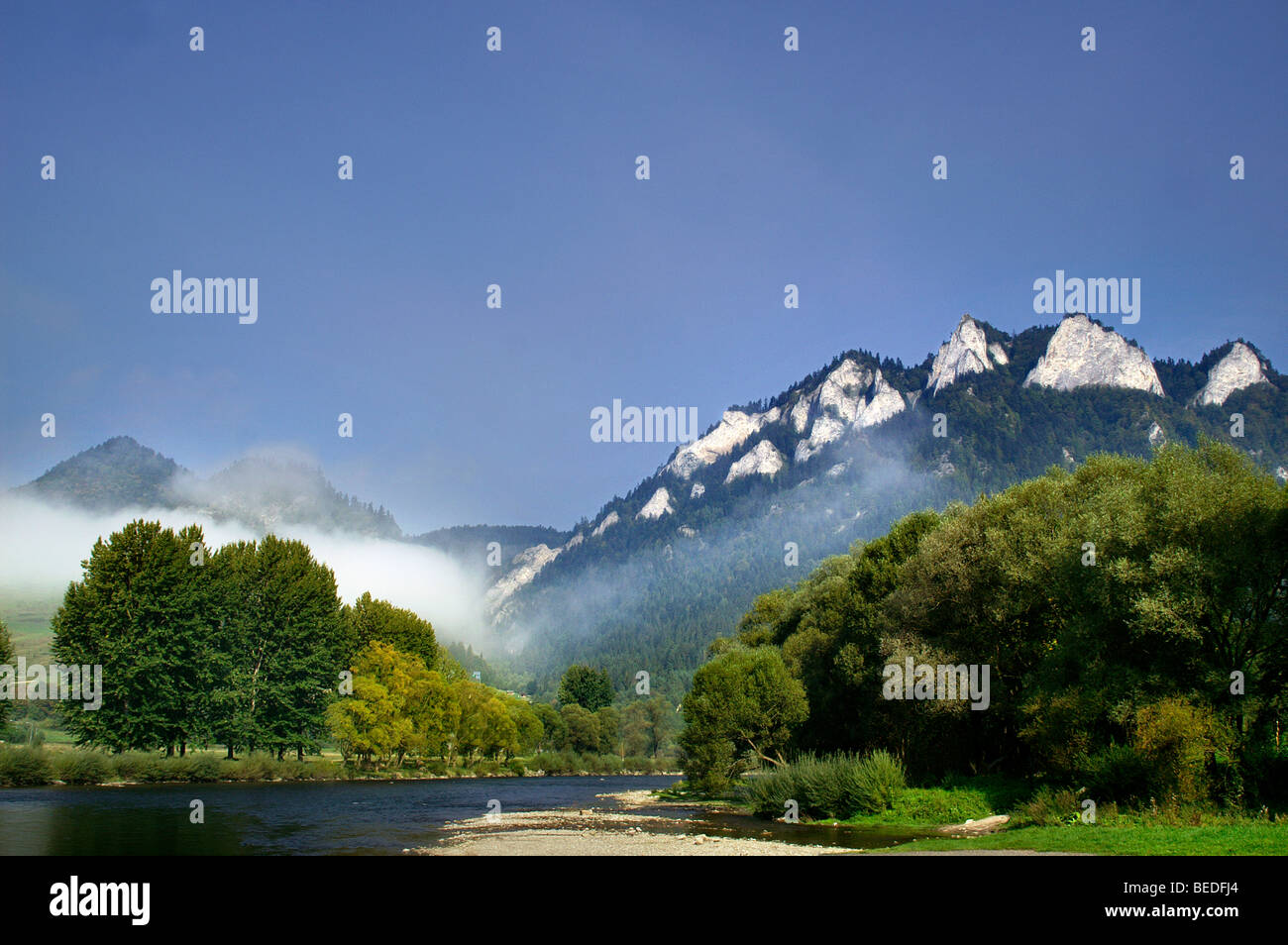 Three Crowns - The most famous peak  in Pieniny National Park - Stock Image