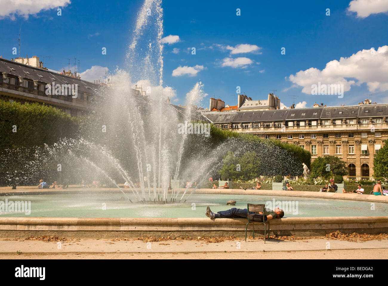 JARDIN DU PALAIS ROYAL, PARIS - Stock Image