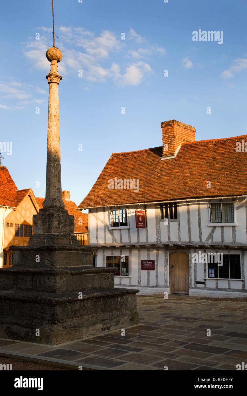 Market Place Lavenham Suffolk England - Stock Image