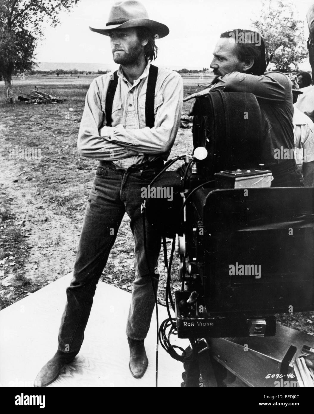 Actor Peter Fonda on set of western film - Stock Image