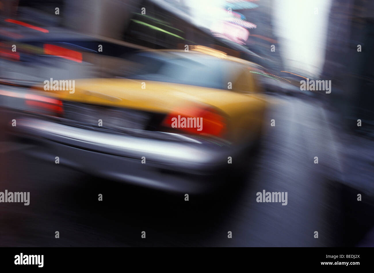 Taxi in New York, USA - Stock Image