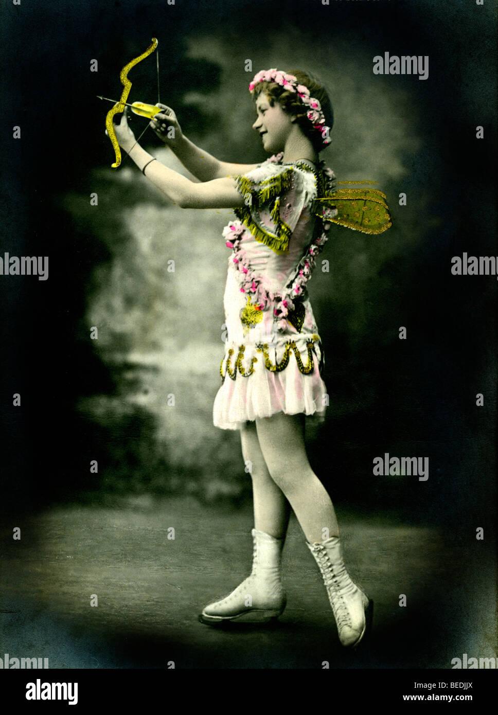 Historic photograph, Cupid, around 1900 Stock Photo