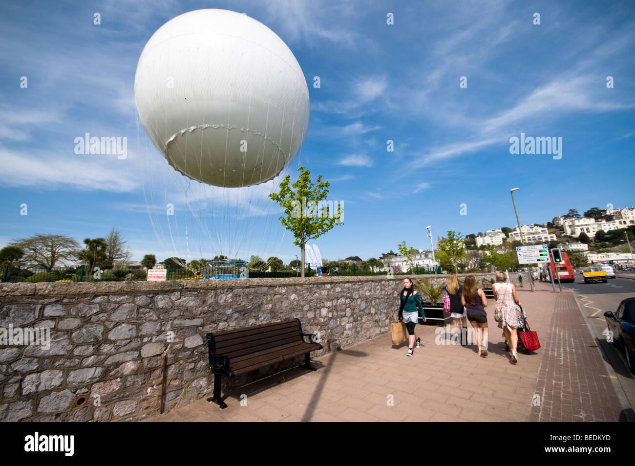 Hot Air Baloon, Torquay Seafront, Devon, UK - Stock Image