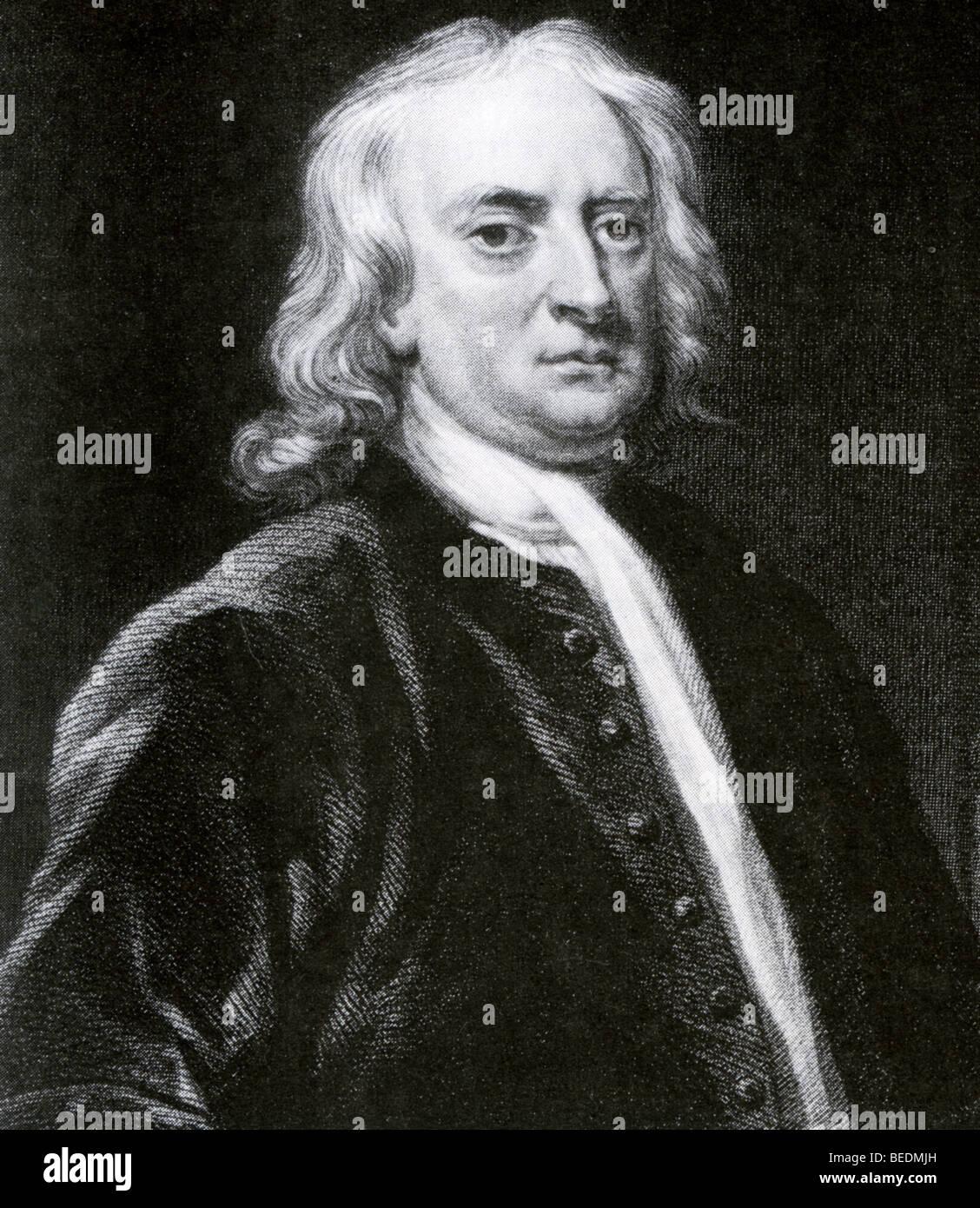 SIR ISAAC NEWTON - English scientist 1643-1727 - Stock Image