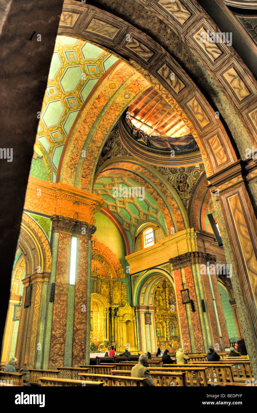 Interior, El Sagrado. Quito, Ecuador - Stock Image