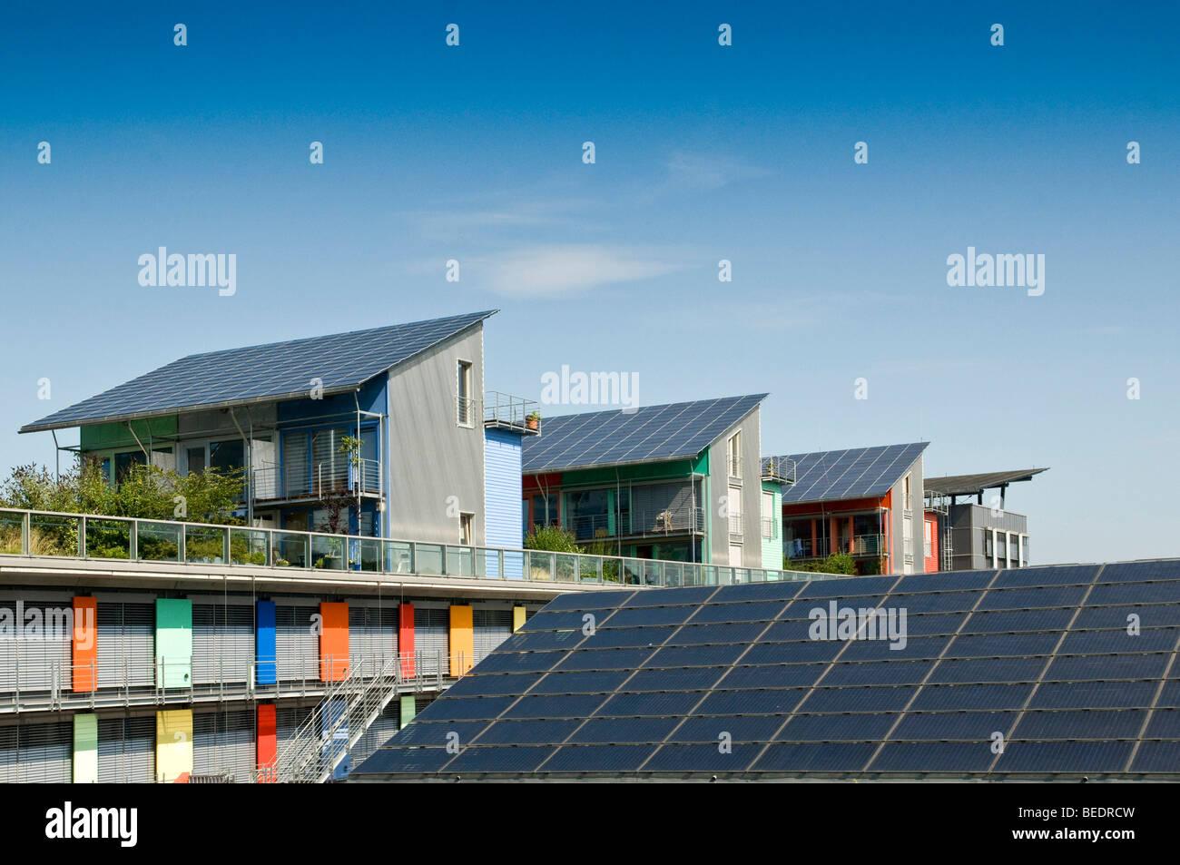 solar village vauban freiburg baden wuerttemberg germany europe stock photo 26119321 alamy. Black Bedroom Furniture Sets. Home Design Ideas