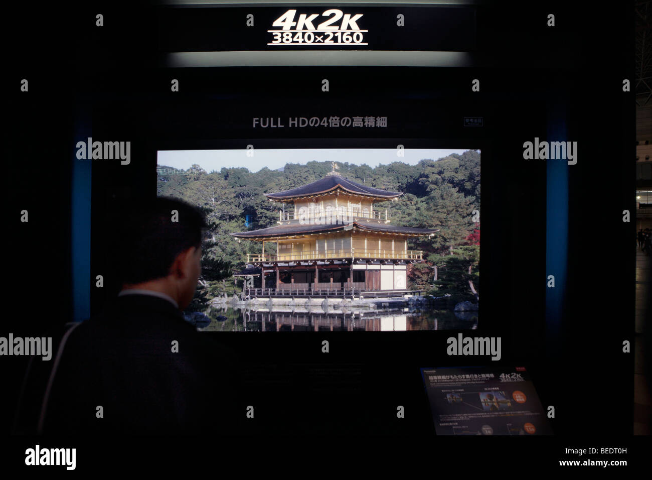 Panasonic FULL HD 3D television viewers - Stock Image
