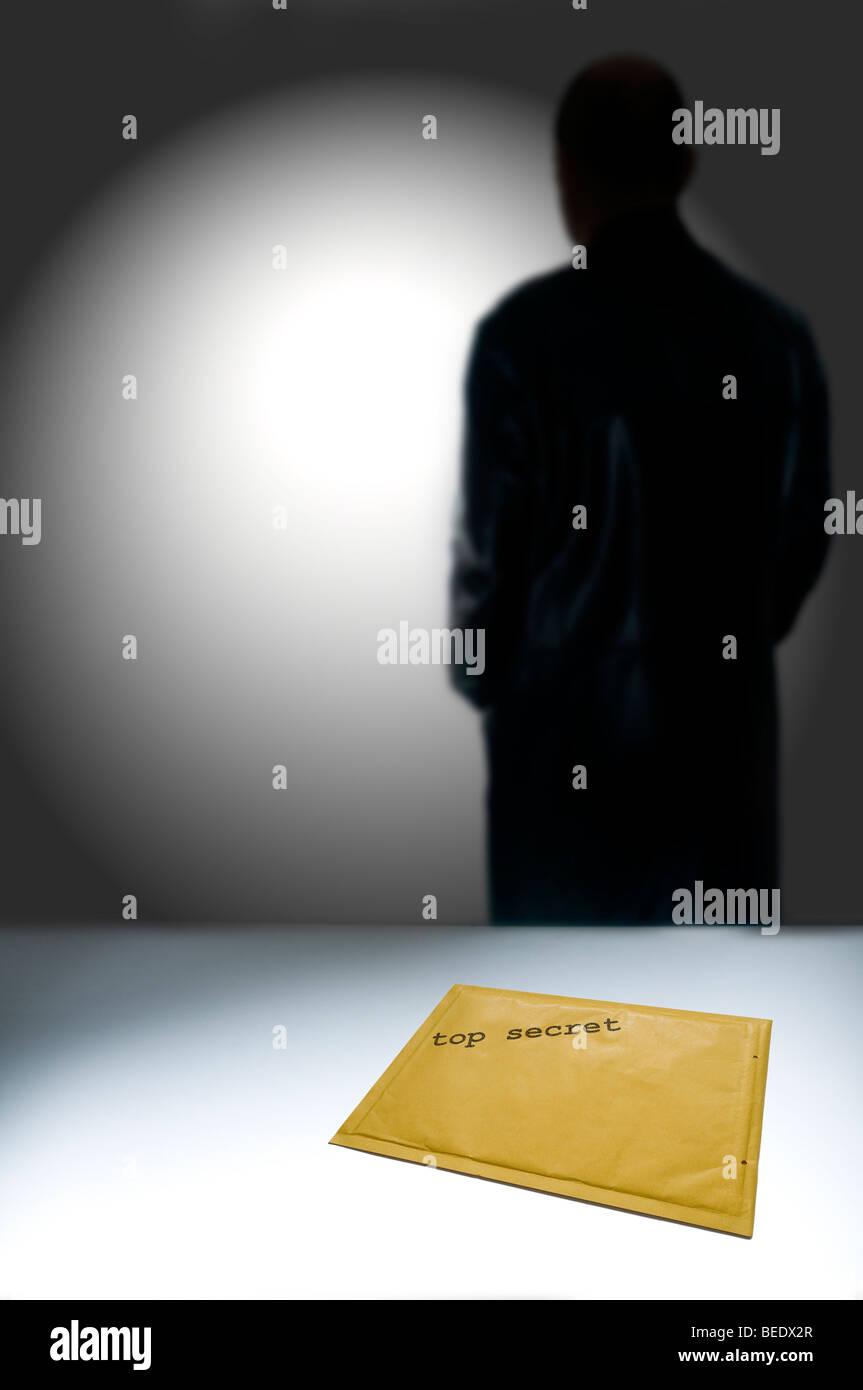 top secret envelope - Stock Image
