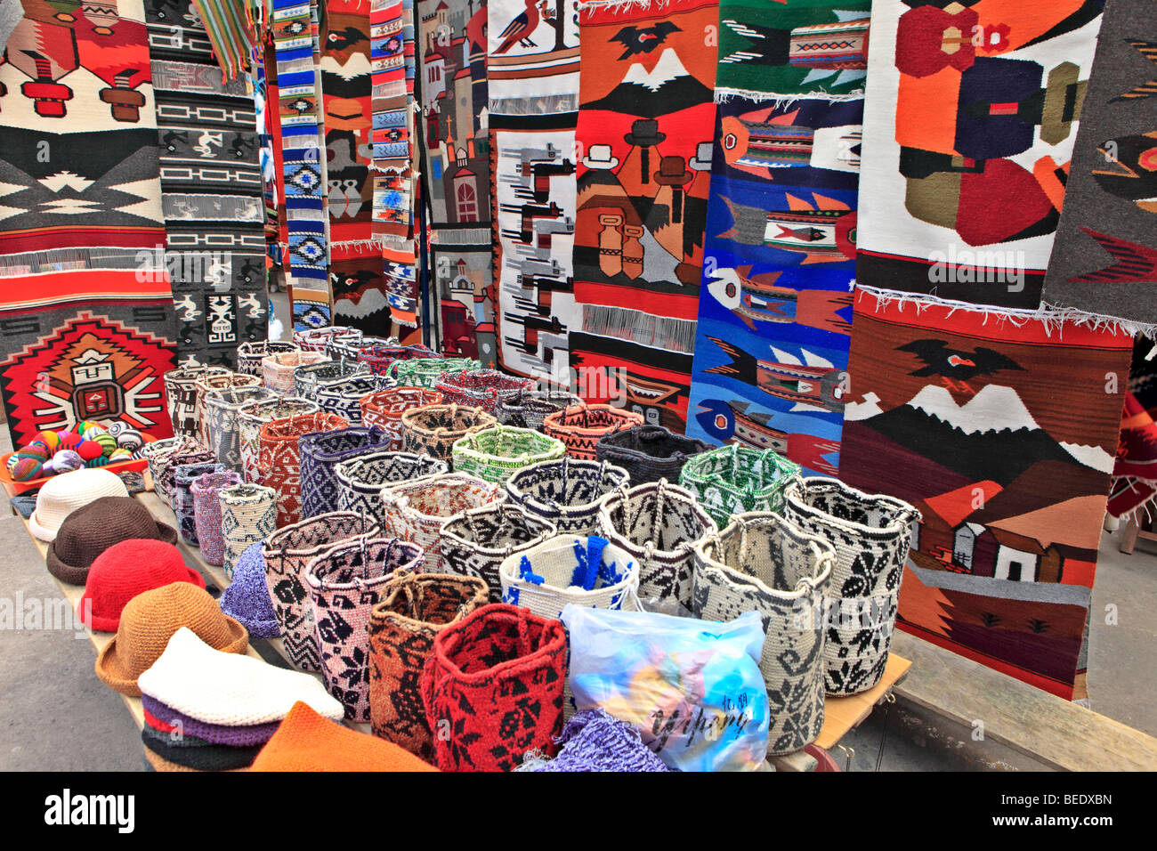Market, Otavalo, Ecuador - Stock Image