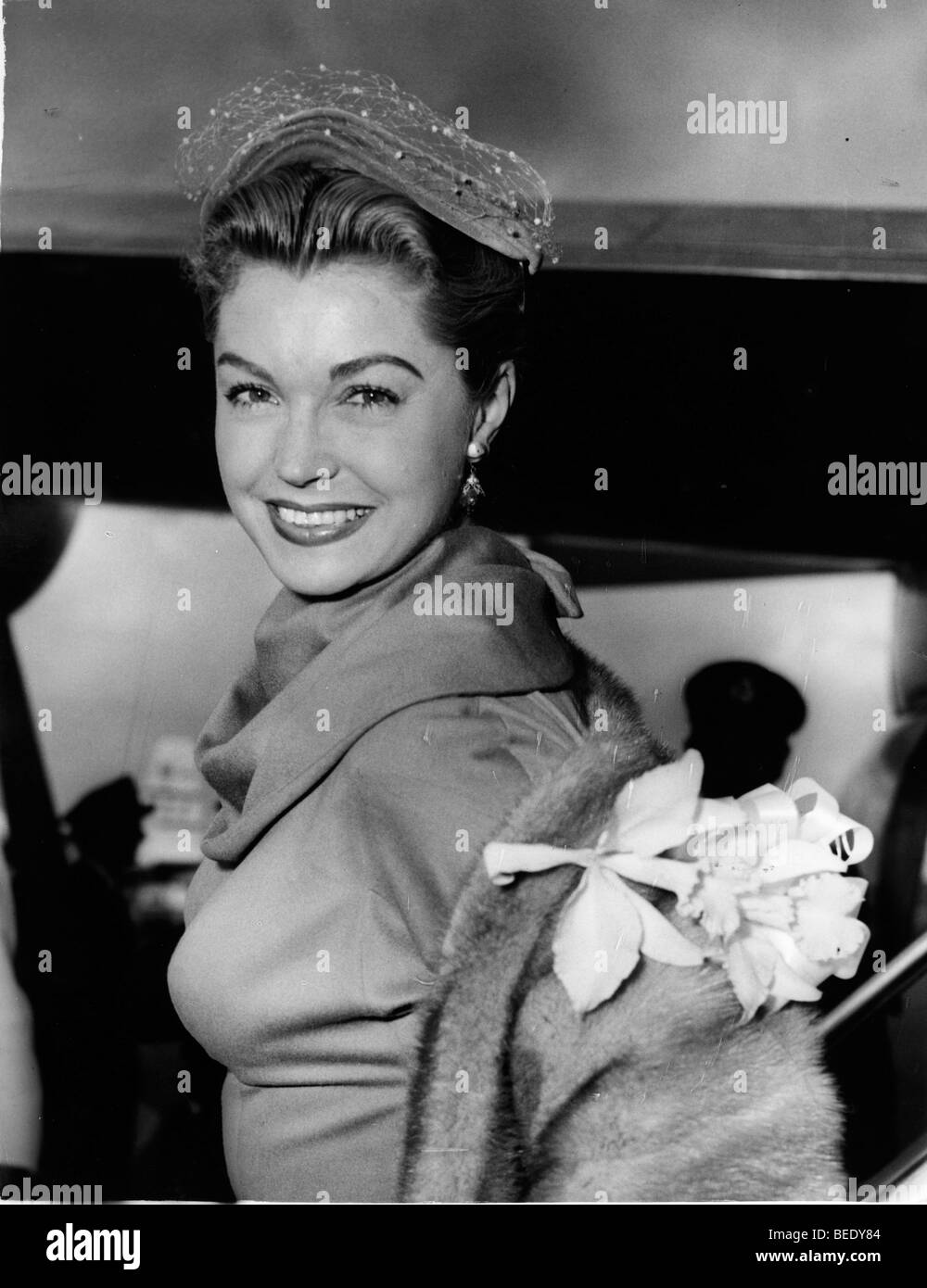 Actress Esther Williams going out for the night - Stock Image