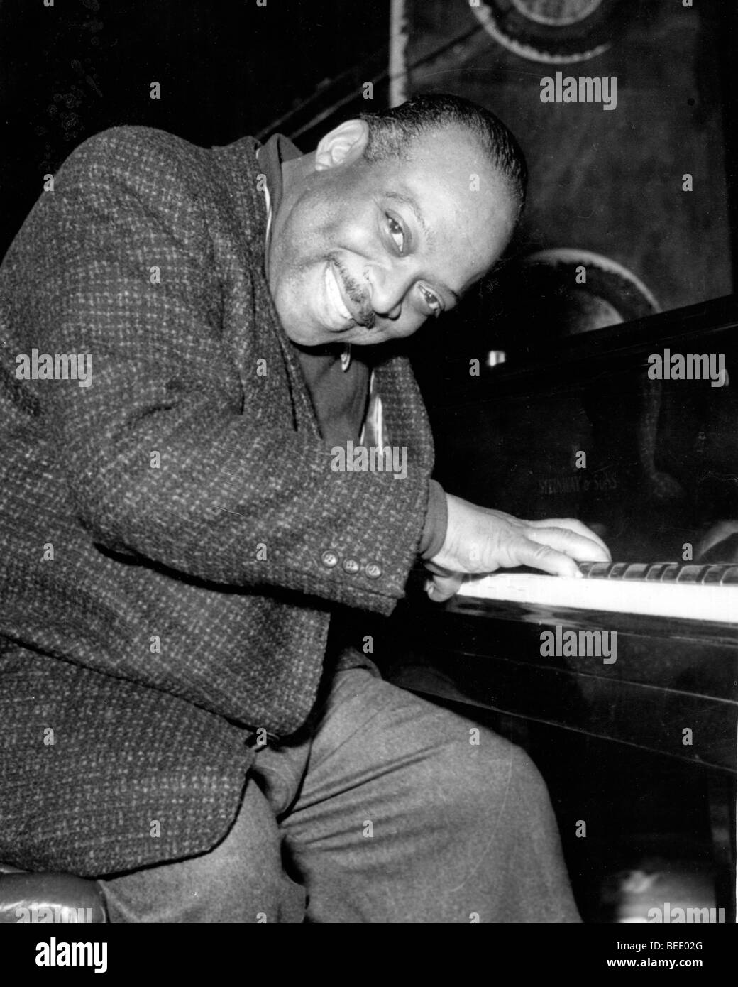 Pianist and big band leader COUNT BASIE in 1957. Stock Photo