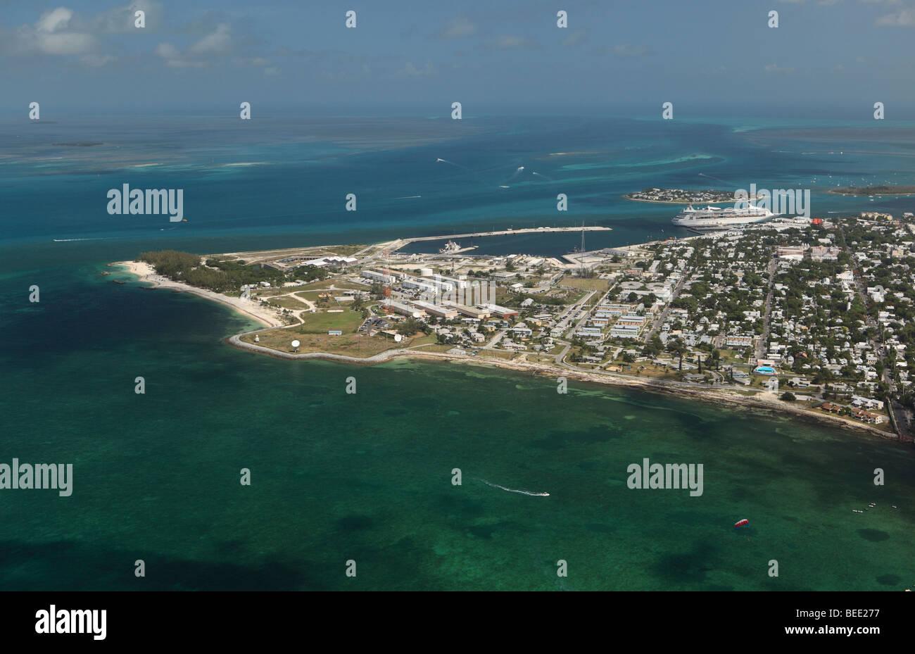 Aerial photo of Key West, Florida - Stock Image