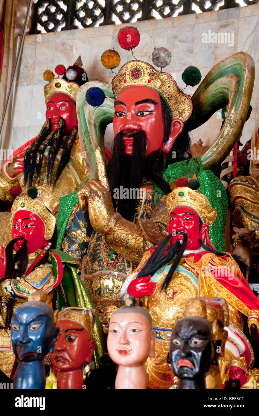 Numerous dolls in the Chinese Jui-Tui Temple in Phuket Town Phuket Island Southern Thailand Southeast Asia - Stock Image