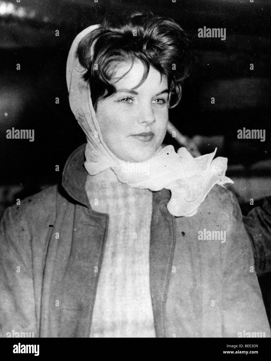 Priscilla Presley sees off at Elvis at the airport - Stock Image