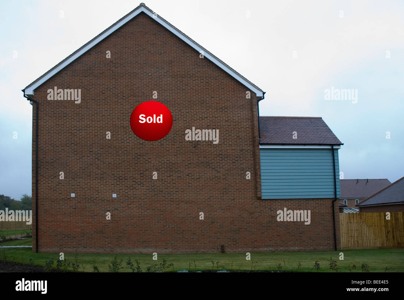 house for sale gable end - Stock Image