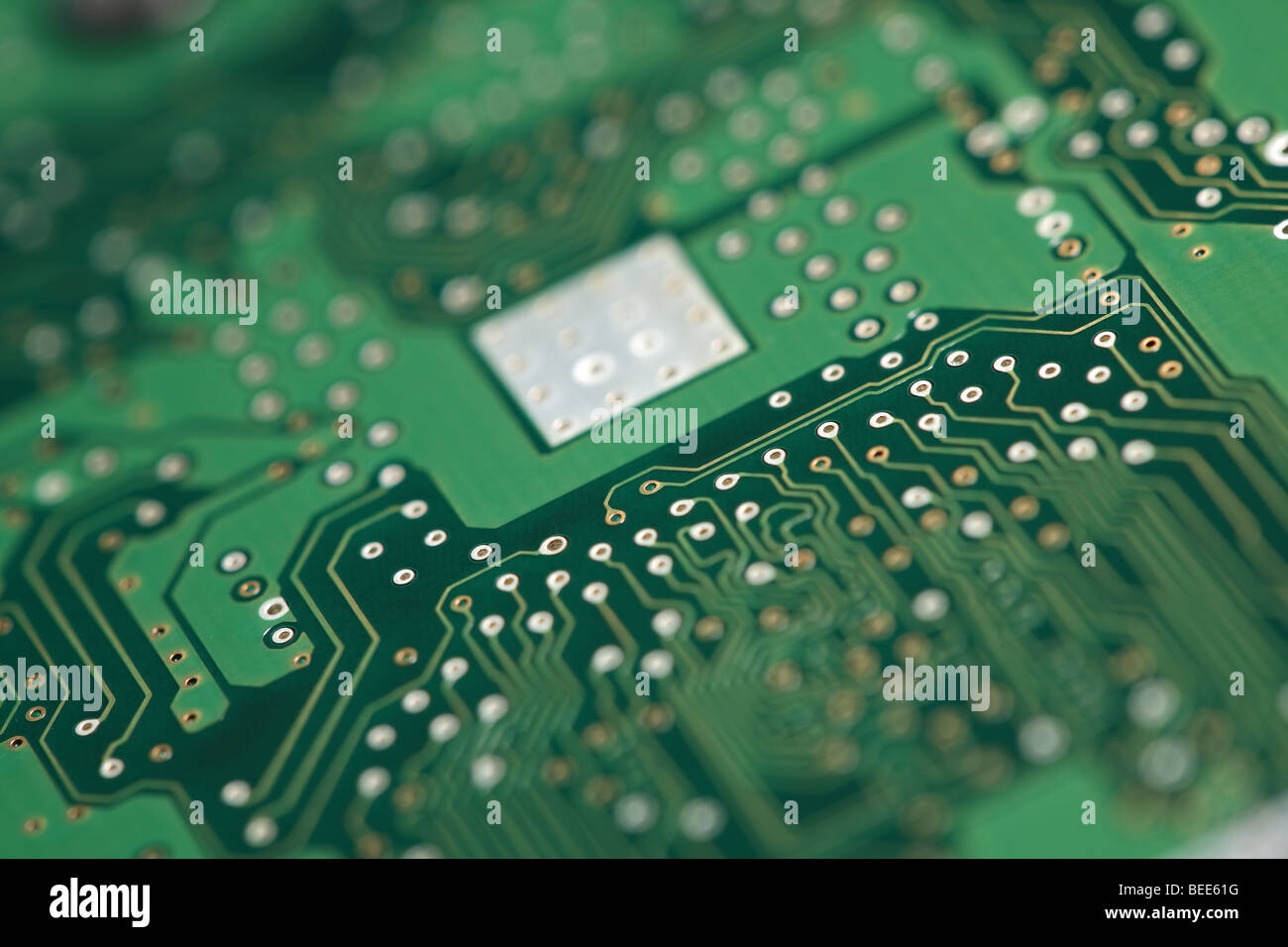 Micro chip on system board - Stock Image