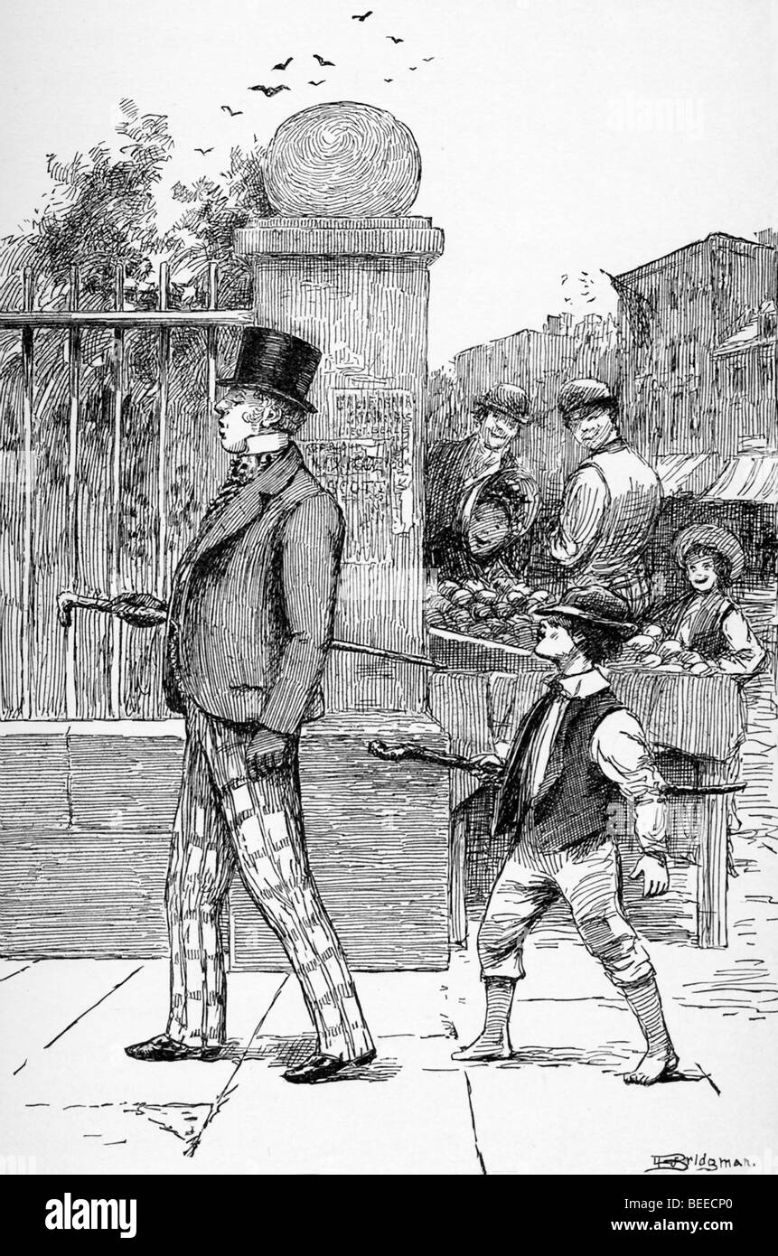 This 1888 illustration shows a New York dandy, when the city  was experiencing a period of great financial prosperity. - Stock Image