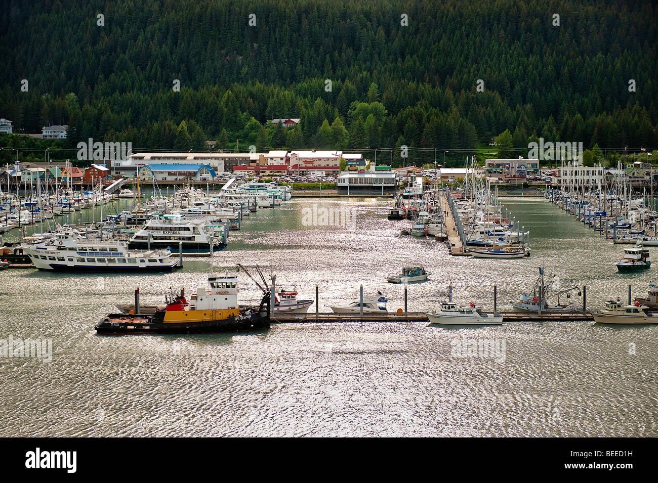 Seward, harbor, Kenai Peninsula, Alaska, USA - Stock Image