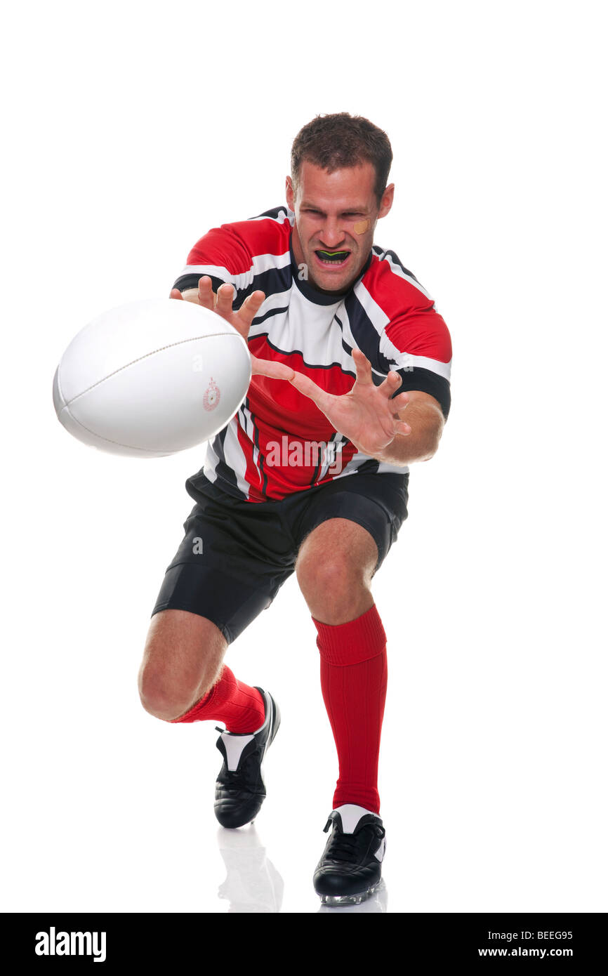 Rugby player - part of a series Stock Photo