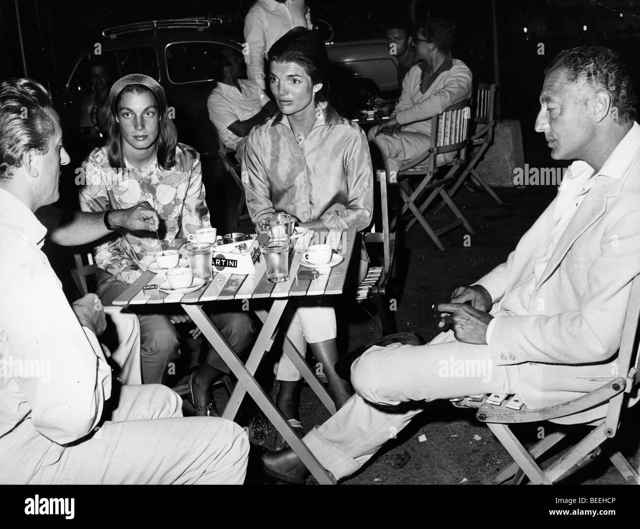 First lady Jackie Kennedy chats with Gianni Agnelli - Stock Image