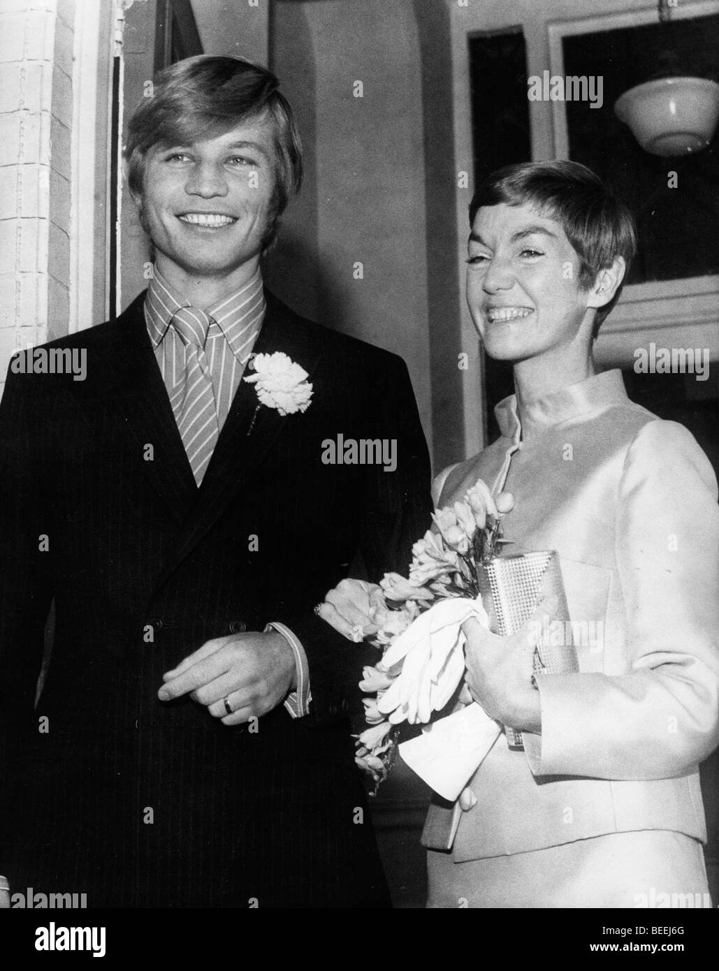Actor Michael York is married to Patricia McCallum in 1968. Stock Photo
