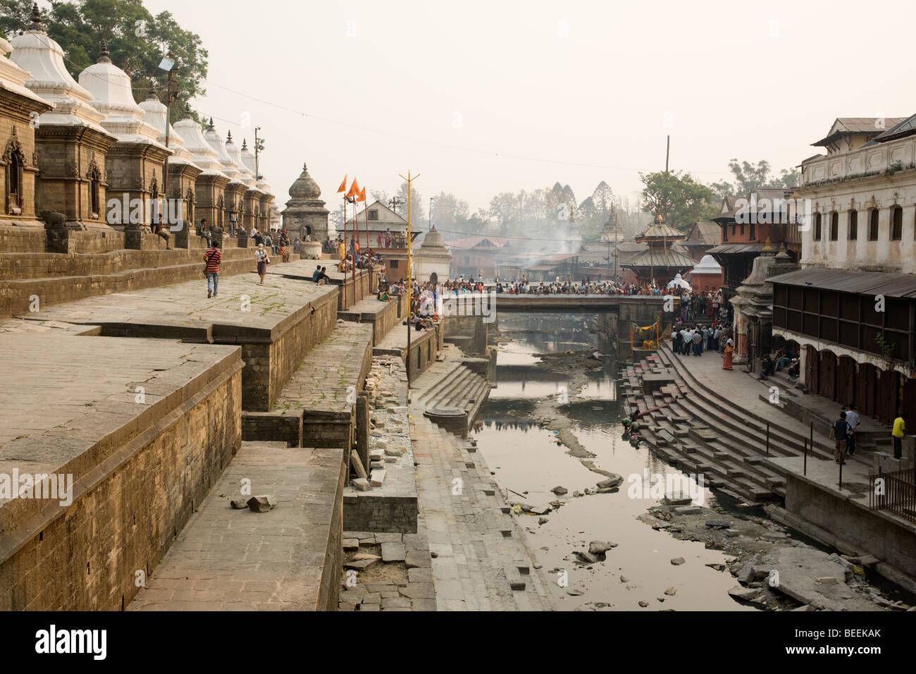Bagmati river near Pashupatinath Temple. Kathmandu, Nepal - Stock Image