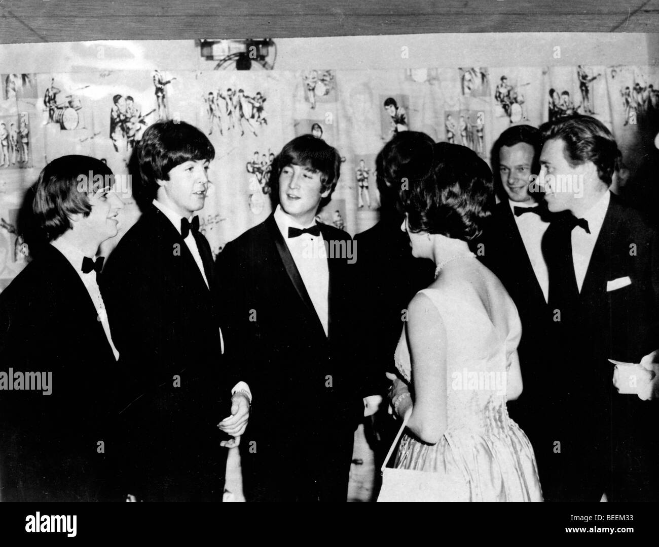 The Beatles meet Lord Snowdon and Princess Margaret - Stock Image