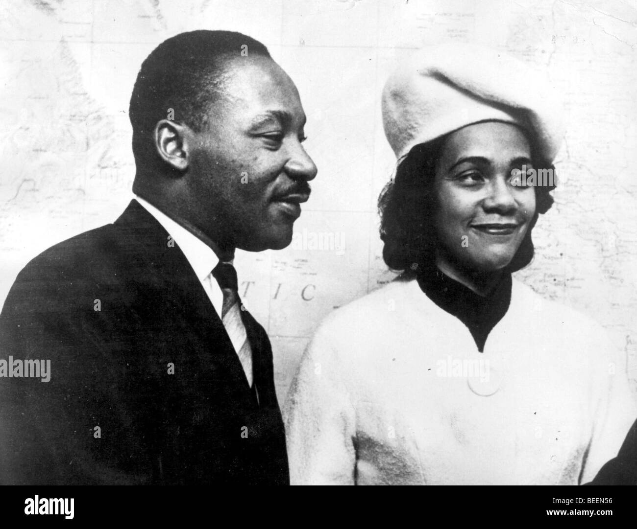 Martin Luther King, Jr. with his wife Coretta Scott King Stock Photo